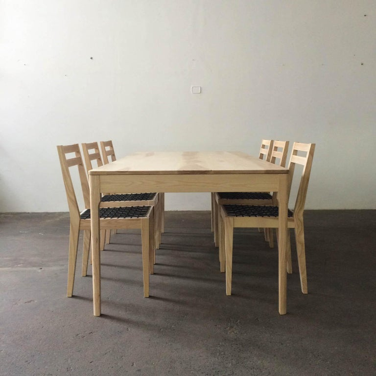 Harris Dining Table In Ash Seats Eight Handcrafted Modern