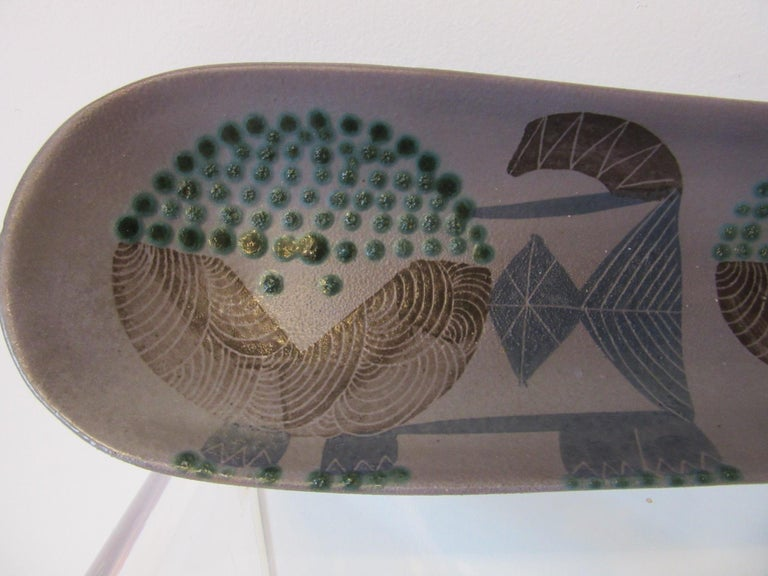 Harris G. Strong Pottery Fish Tray / Serving Dish In Good Condition For Sale In Cincinnati, OH