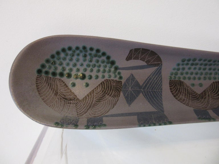 20th Century Harris G. Strong Pottery Fish Tray / Serving Dish For Sale