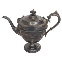 Harrison Fisher & Company Pewter Teapot from 1915