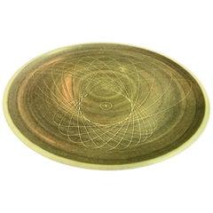 Harrison Mcintosh Signed Monumental Mid-century Large Ceramic Pottery Charger