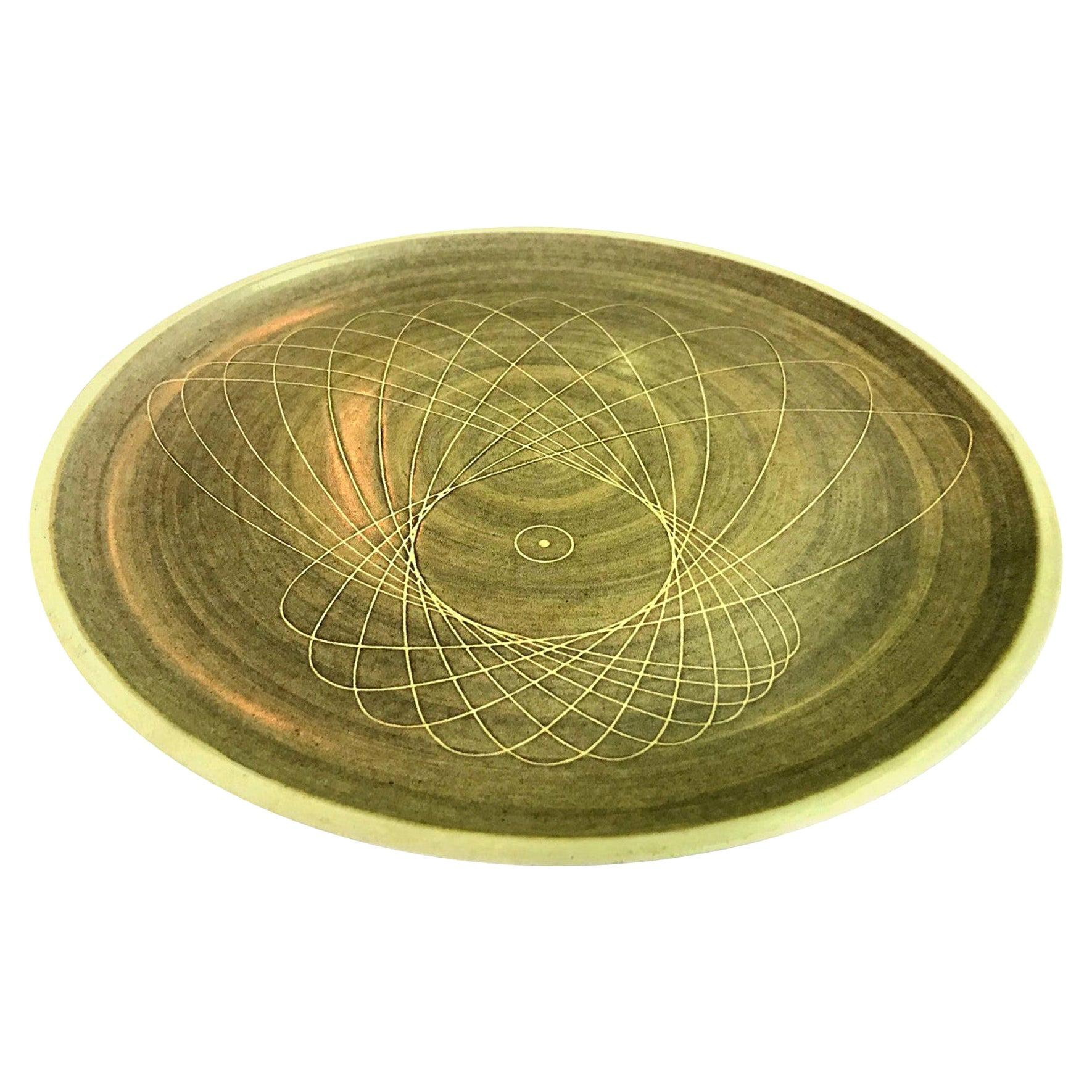 Harrison Mcintosh Signed Monumental Midcentury Large Ceramic Pottery Charger