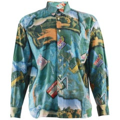 Harrods 1970s Mens Western Style Vintage Shirt