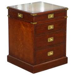 Harrods Kennedy Military Desk Drawers Filing Cabinet Rare Sliding Top