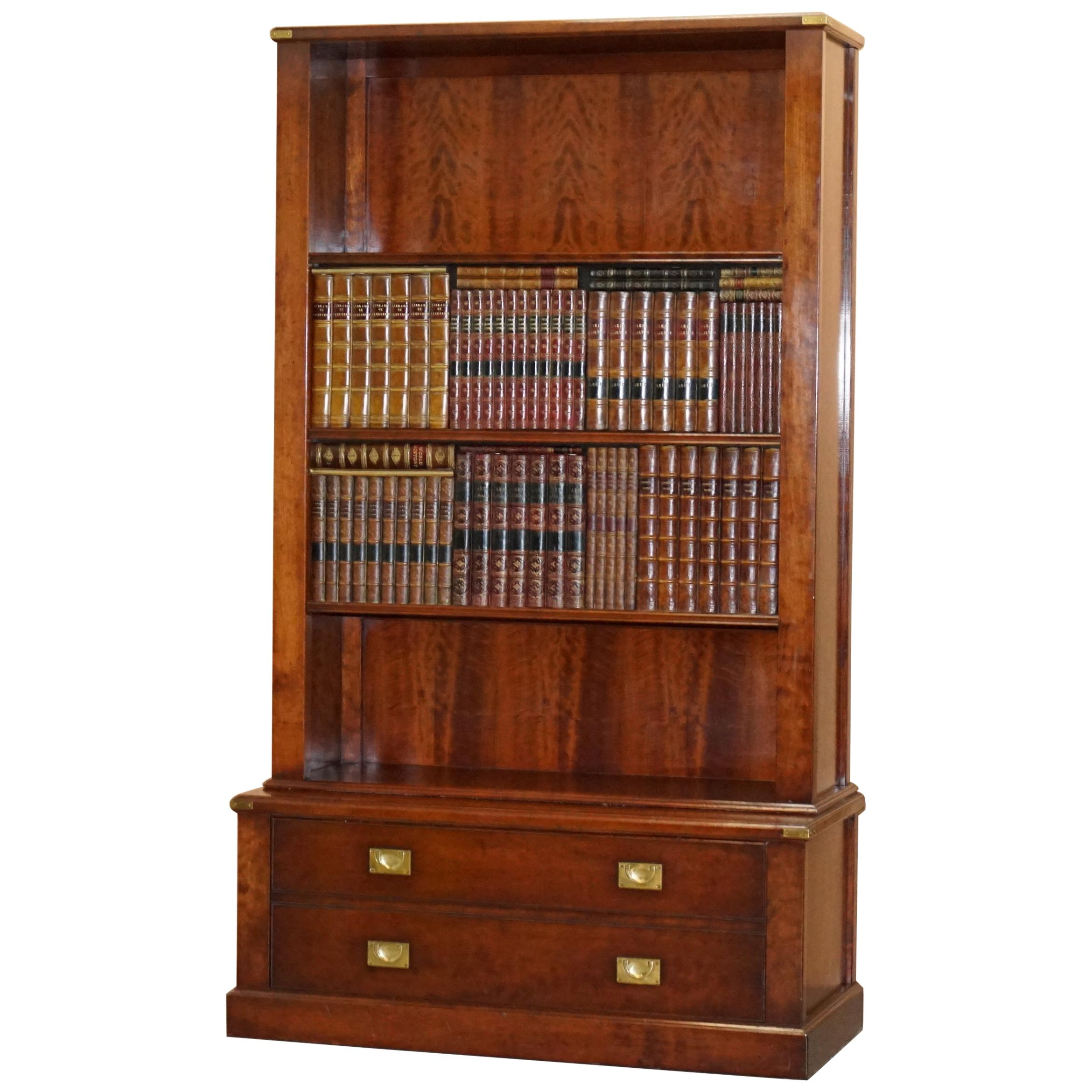 Harrods Kennedy Sliding Faux Books Hidden Bookcase Tv Cabinet Military Campaign