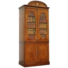 Harrods London Kennedy Custom Made Faux Books Regency Style Bookcase Cabinet