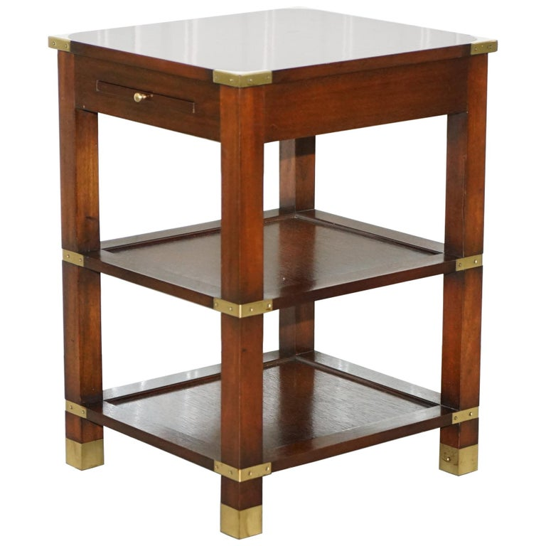 75e57c406c Harrods London Kennedy Furniture Side End Lamp Table with Leather Butlers  Tray
