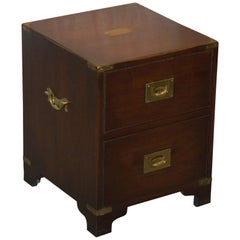 Harrods London Kennedy Military Campaign Bedside Table Size Chest of Drawers