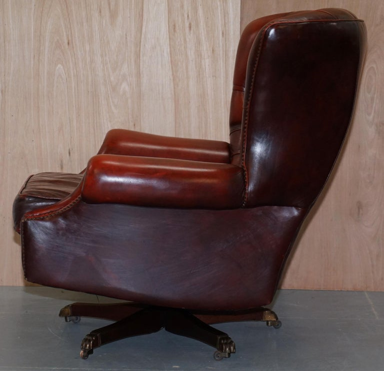 Amazing Harrods London Oversized Oxblood Leather Wingback Library Office Reading Chair Cjindustries Chair Design For Home Cjindustriesco