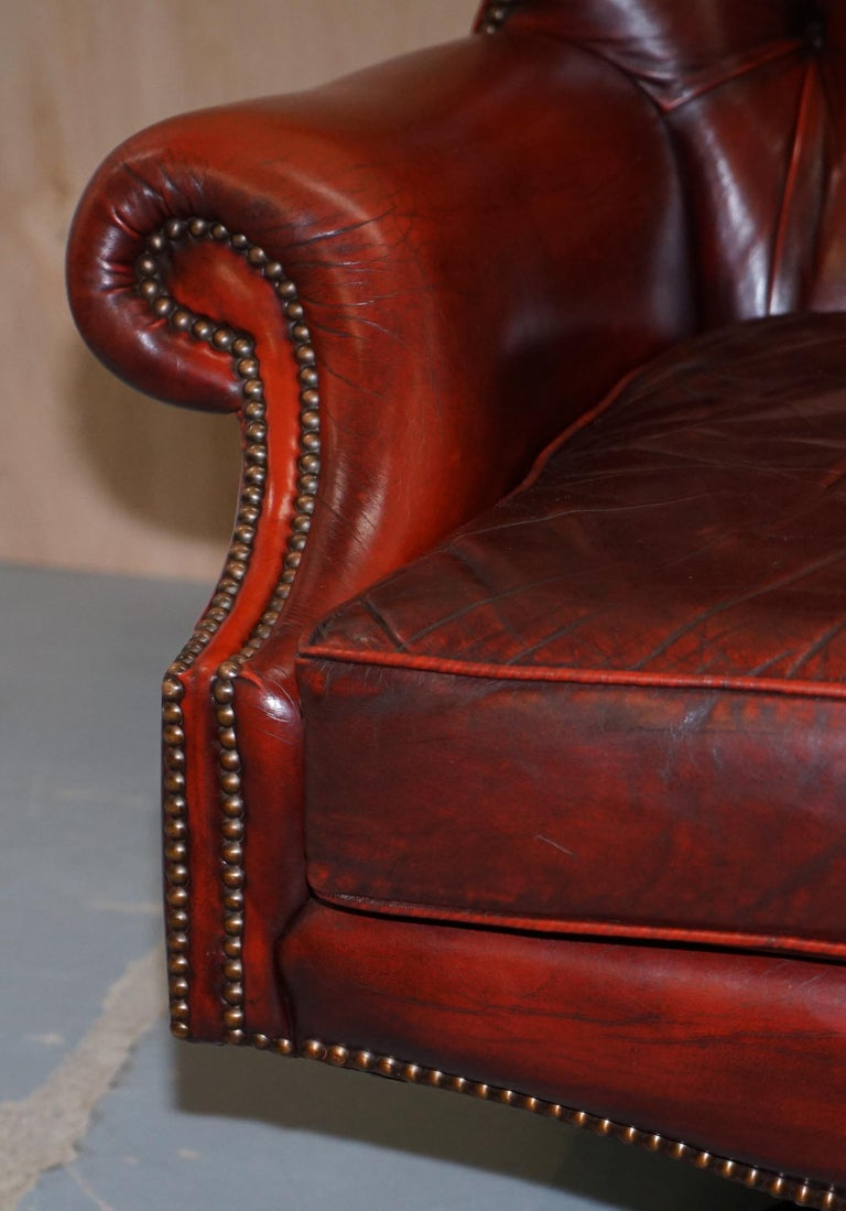 Miraculous Harrods London Oversized Oxblood Leather Wingback Library Office Reading Chair Cjindustries Chair Design For Home Cjindustriesco
