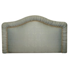 Harrods London Silk Upholstered Padded King Size Headboard Paisley Upholstery