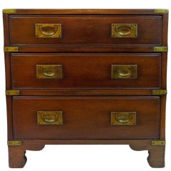 Harrods of London Kennedy Campaign Chest Three Drawer Mid-20th Century
