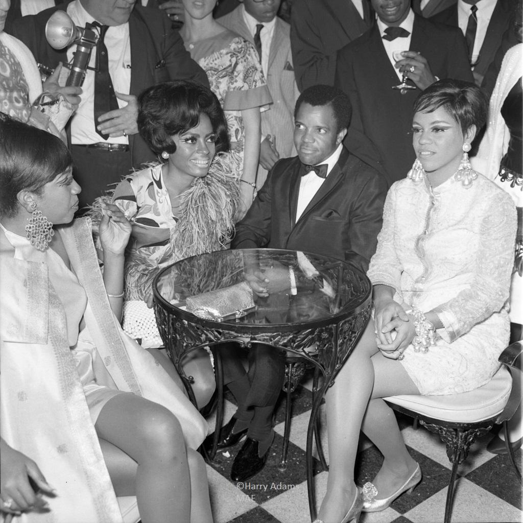 """Icons 20x20"""" silver gelatin -The Supremes & Berry Gordy, Los Angeles, Calif."""