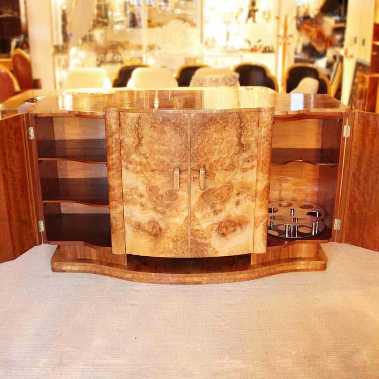 English Harry and Lou Epstein Art Deco Sideboard For Sale