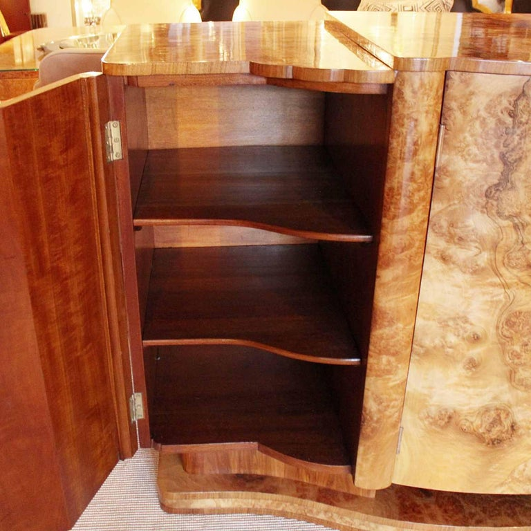 Walnut Harry and Lou Epstein Art Deco Sideboard For Sale