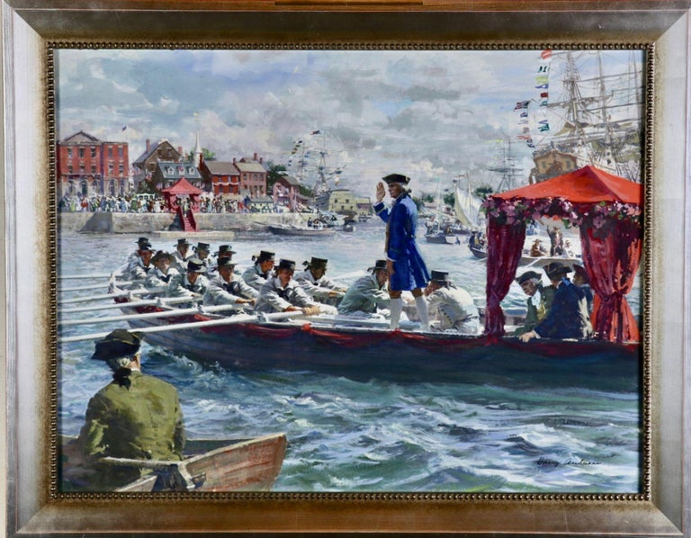 New York Welcomes the President Elect, Great Moments in American History - Painting by Harry Anderson