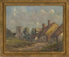 Harry Bennett (1879-1955) - Signed Early 20th Century Oil, Village Scene