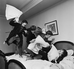 Beatles Pillow Fight by Harry Benson