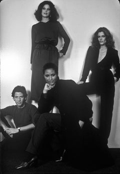 Calvin Klein with Barbara Allen, Beverly Johnson, and Chris O'Connor