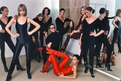 Halston with models, New York