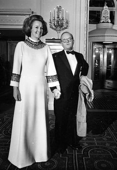 "Katharine Graham and Truman Capote, ""Black & White"" Ball, New York"