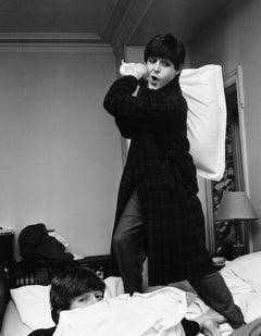Paul Hits John, Pillow Fight by Harry Benson