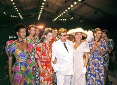 Yves St. Laurent with Kate Moss and Models, Paris