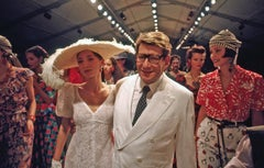 Yves St. Laurent with Models, Paris