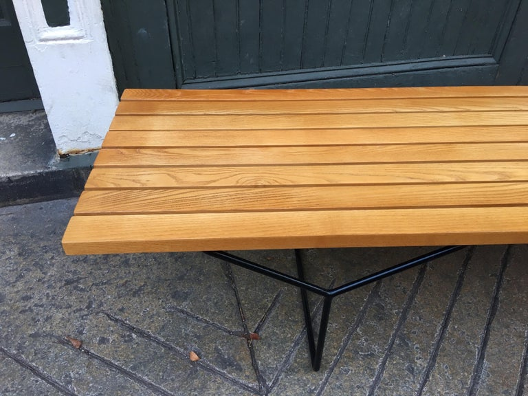 Mid-Century Modern Harry Bertoia Bench for Knoll For Sale