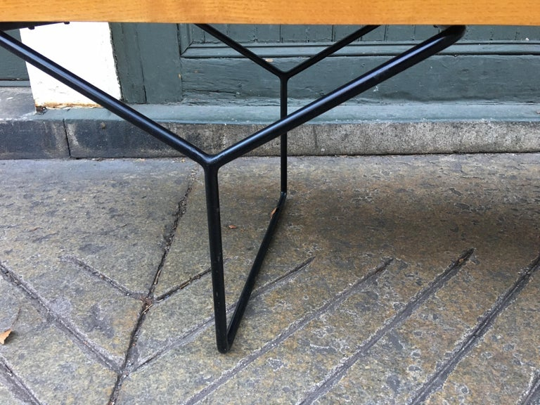 American Harry Bertoia Bench for Knoll For Sale