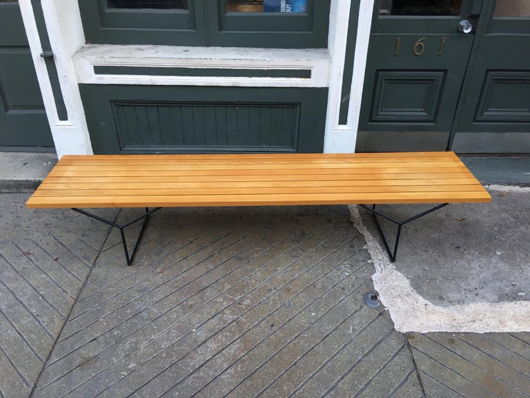 Harry Bertoia Bench for Knoll For Sale 1