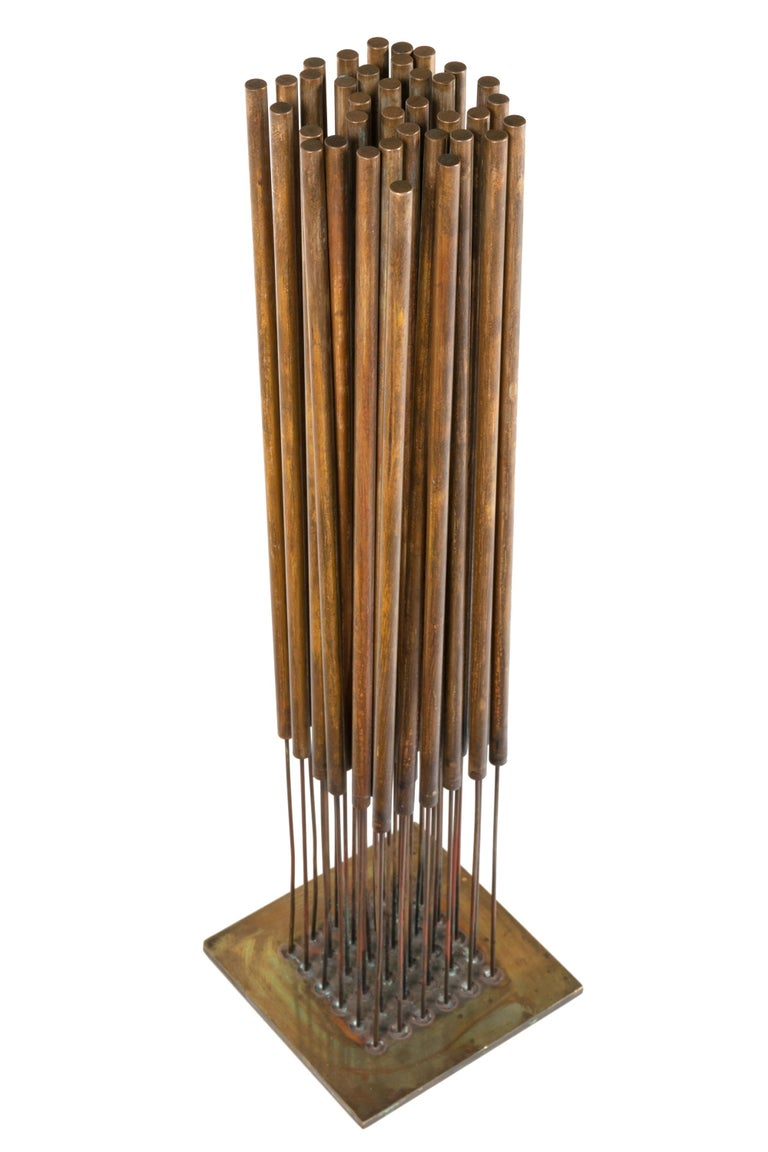 American Harry Bertoia Beryllium Bronze Kinetic Cattail Sonambient Sculpture, USA, 1970s For Sale