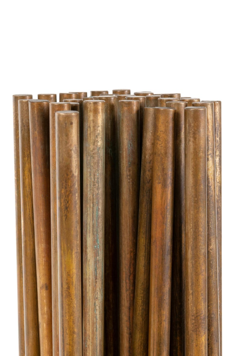 Late 20th Century Harry Bertoia Beryllium Bronze Kinetic Cattail Sonambient Sculpture, USA, 1970s For Sale