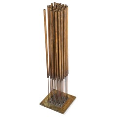 Harry Bertoia Beryllium Bronze Kinetic Cattail Sonambient Sculpture, USA, 1970s