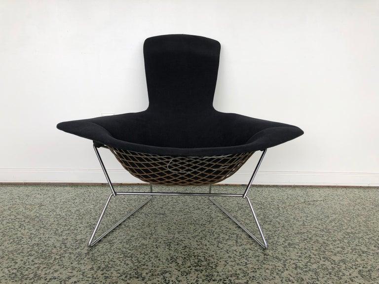 Mid-Century Modern Harry Bertoia Bird Chair and Ottoman