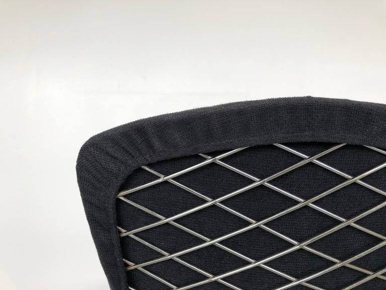 Metal Harry Bertoia Bird Chair and Ottoman
