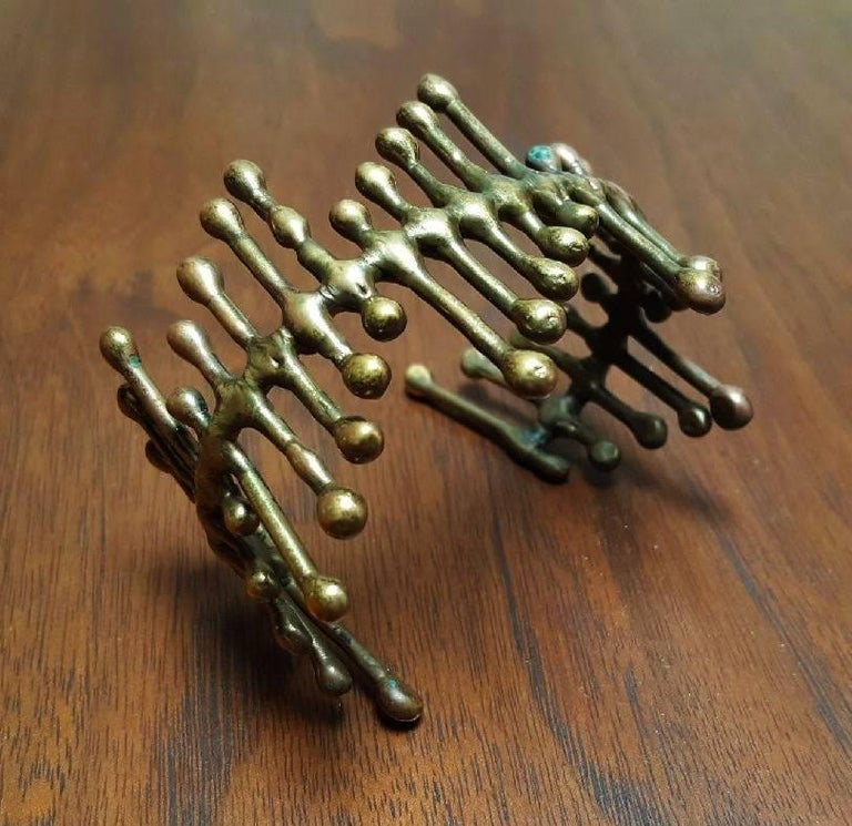 Mid-Century Modern Harry Bertoia Bracelet Sculpted and Worn by Harry Himself  For Sale