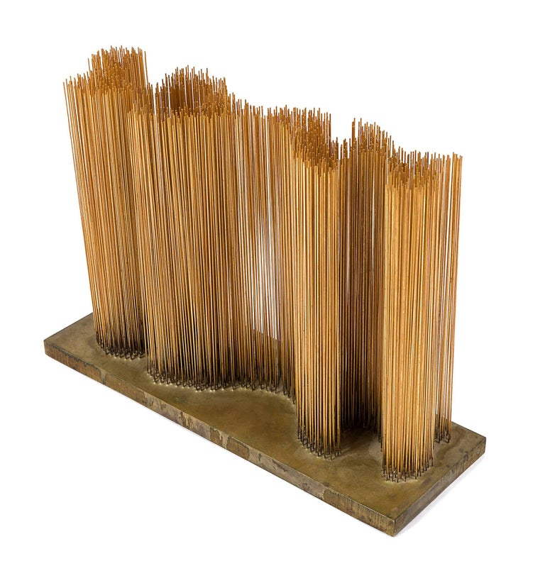 American Harry Bertoia Brass and Bronze Sonambient Sculpture, USA, 1966 For Sale