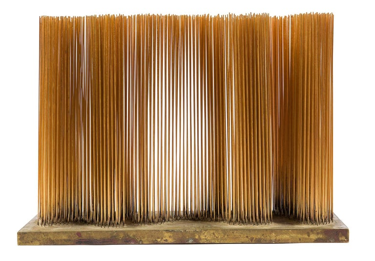 Harry Bertoia Brass and Bronze Sonambient Sculpture, USA, 1966 In Excellent Condition For Sale In New York, NY
