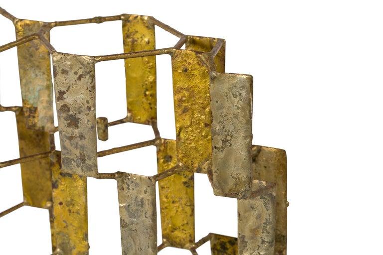 Harry Bertoia Brass Melt Coated Multi Plane Panel Sculpture, USA, 1955 For Sale 1