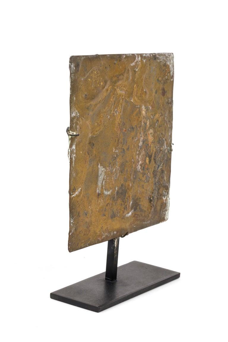American Harry Bertoia Brass Melt Coated Sculptural Panel For Sale