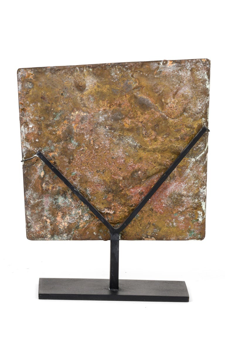 Harry Bertoia Brass Melt Coated Sculptural Panel In Good Condition For Sale In New York, NY