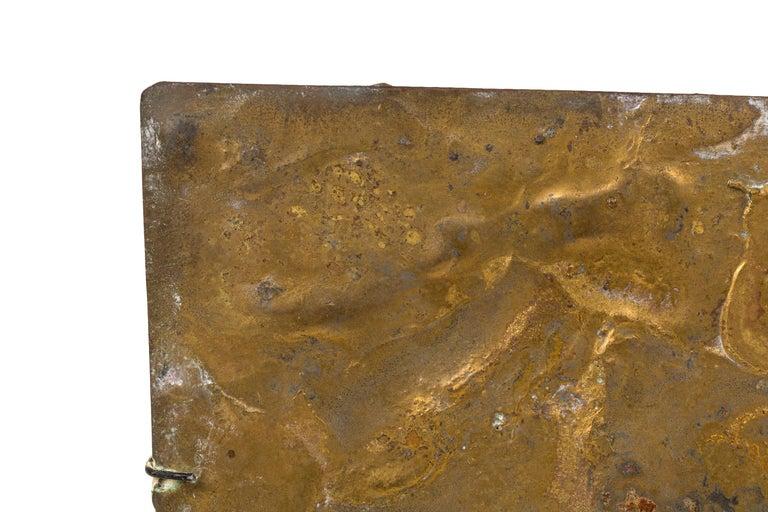 Harry Bertoia Brass Melt Coated Sculptural Panel For Sale 1