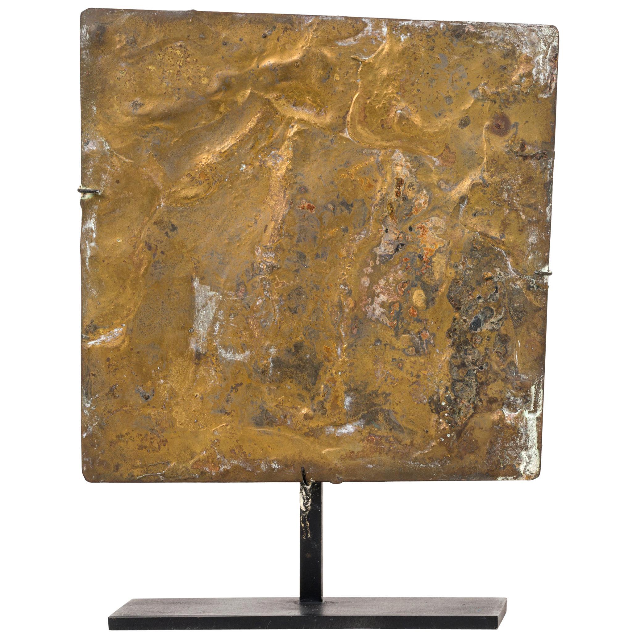Harry Bertoia Brass Melt Coated Sculptural Panel