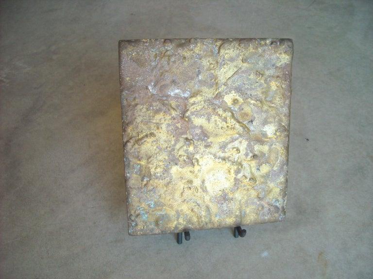 Modern Harry Bertoia ,Brass on Steel Panel or Sculpture, for Fnbom For Sale