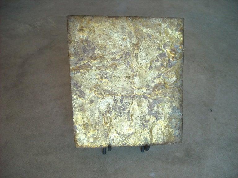 American Harry Bertoia ,Brass on Steel Panel or Sculpture, for Fnbom For Sale