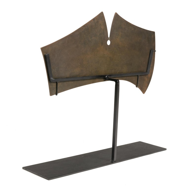 Harry Bertoia Bronze Gong Sculpture, USA, 1960s In Good Condition For Sale In New York, NY