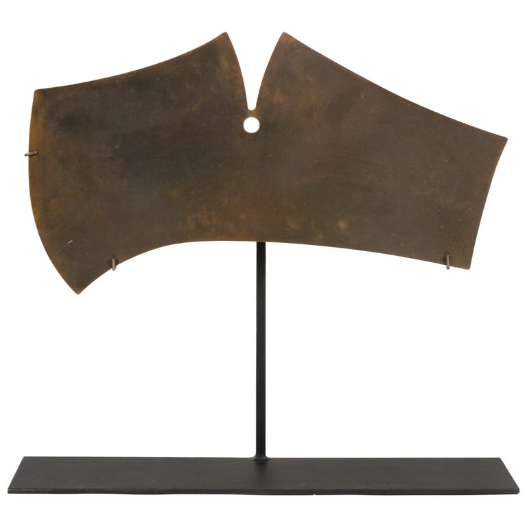 Harry Bertoia Bronze Gong Sculpture, USA, 1960s For Sale