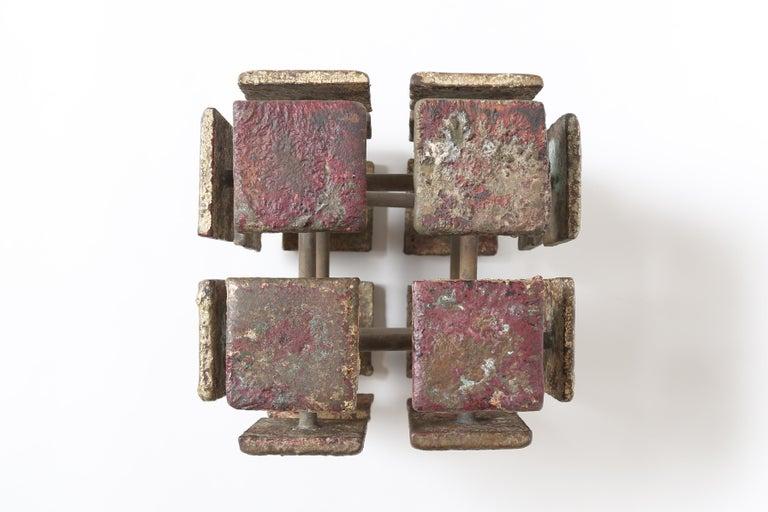 Harry Bertoia Bronze Multi-Plane Cube Sculpture For Sale 1