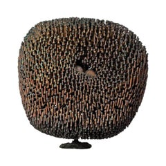 Harry Bertoia Bush Form Patinated Copper and Bronze Sculpture, USA, 1968